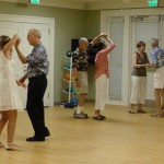 Early arrivers were treated to a full shag dance class before the party.