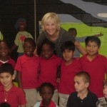 Dr. Jean and students from Mt. Zion. PHOTO BY: Principal Deborah Fordham