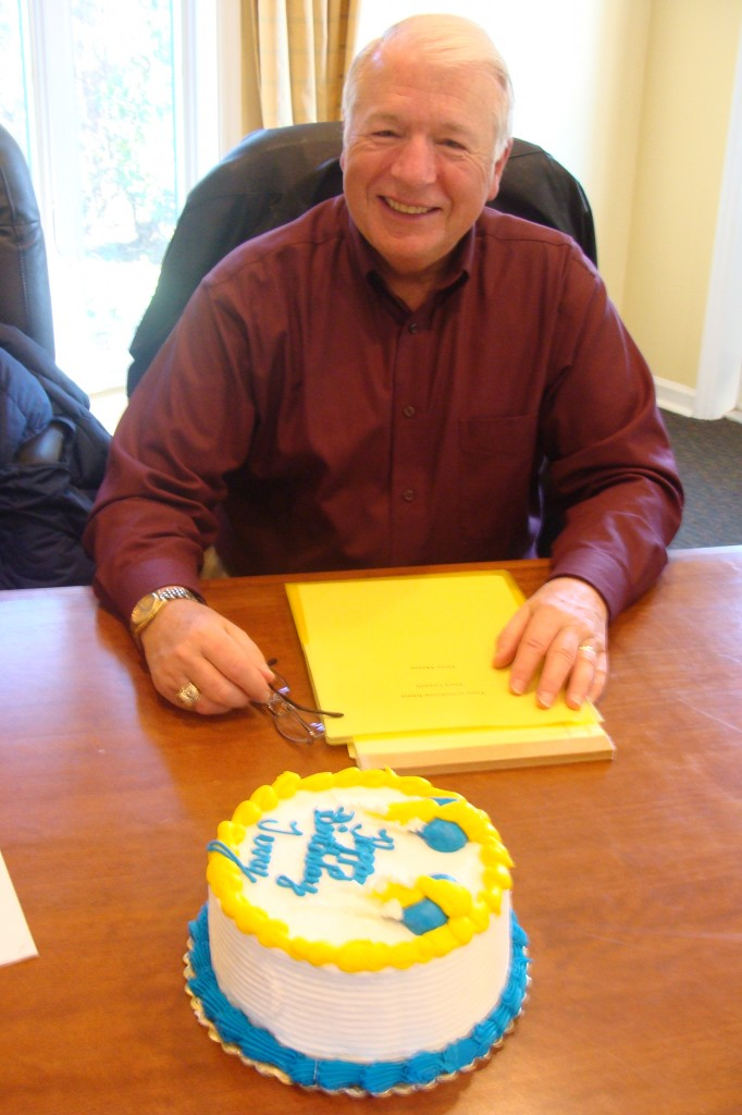 Councilman Terry Ahearn celebrated his birthday with the rest of the Council after the day's meeting.