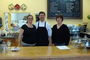 Shannon Hutchings, Chef Jared Young and owner Judy Anagnos