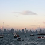 View of downtown Panama City and Panama Bay from the Casco