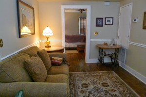 A suite at the St. Francis Inn.