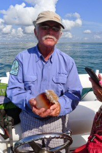 Captain Ben Evans talks about jellyfish on the St. Augustine Eco Tour.