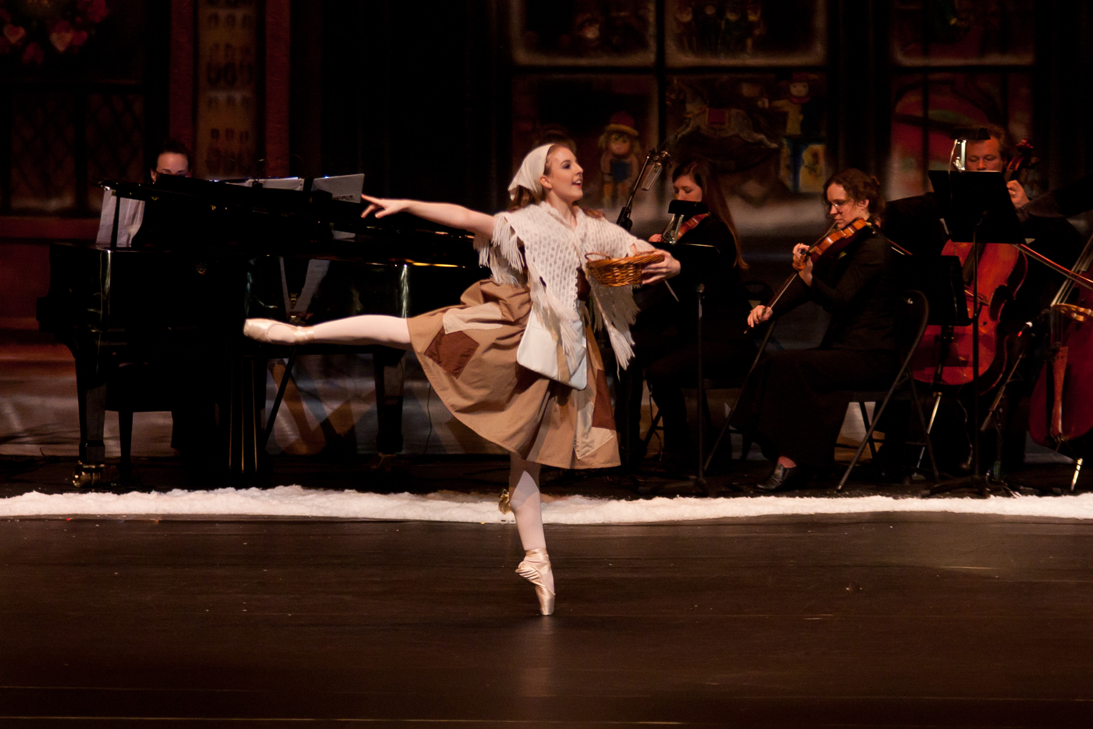 The Little Match Girl is an original ballet with a live chamber orchestra.
