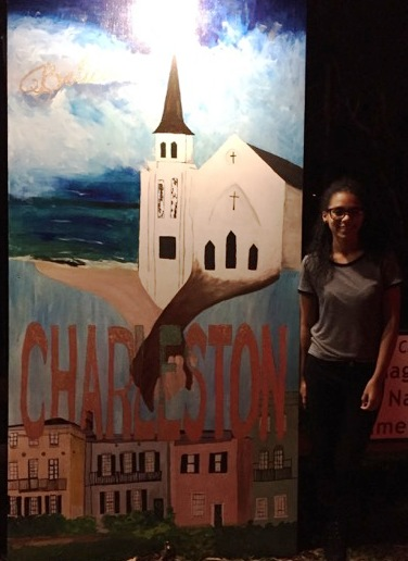 SJHS student Zuri Zepke with her winning entry. (Photo courtesy St Johns High School)