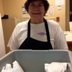 Sue Veon volunteers at both local Our Lady of Mercy Community Outreach programs.