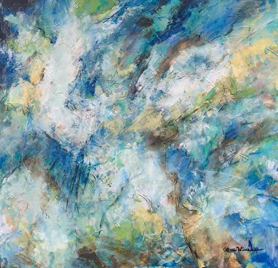 Stormy Thoughts Medium: mixed media on 1.5 in gallery wrap canvas Size: 30 inches x 30 inches