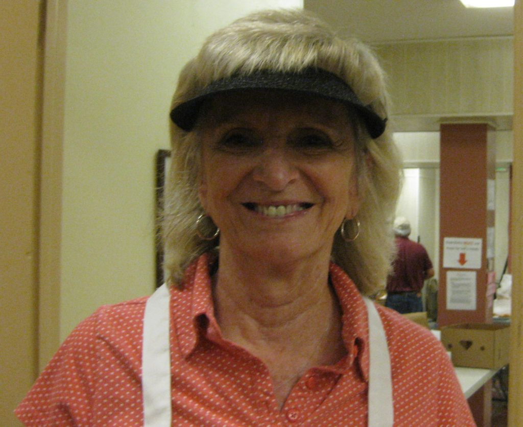 Maureen Morris volunteers at The Neighborhood House, which serves as the downtown site for Our Lady of Mercy Outreach.